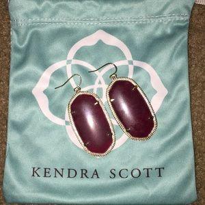 Maroon Danielle Kendra Scott earrings